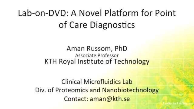 Lab-on-DVD: A Novel Platform for Point of Care Diagnostics