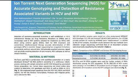Detecting resistance associated variants in HCV and HIV
