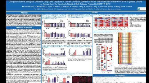 Comparison of the Biological Effects of Long-Term Exposure of Human Bronchial Epithelial Cells to Total Particulate Matter from 3R4F Cigarette Smoke or Aerosol from the Candidate Modified Risk Tobacco Product (cMRTP) THS2.2