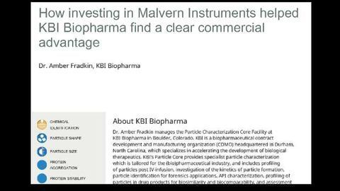 How Investing in Malvern Instruments Helped KBI Biopharma Find a Clear Commercial Advantage