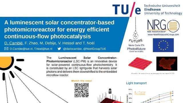 A luminescent solar concentrator-based photomicroreactor for energy efficient continuous-flow photocatalysis
