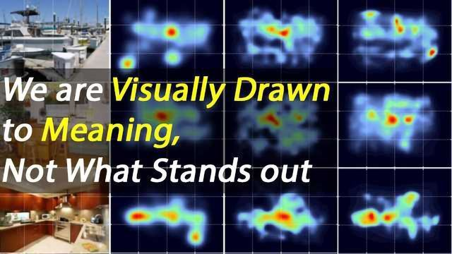 Visual Attention Drawn to Meaning, Not What Sticks-Out, In a Scene
