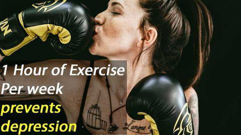 Large Study Shows One Hour Of Exercise Per Week Prevents Depression