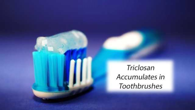 Triclosan Accumulates in Toothbrushes, Potentially Prolonging Users' Exposure