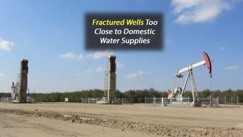 Hydraulically Fractured Wells Too Close to Domestic Groundwater Systems