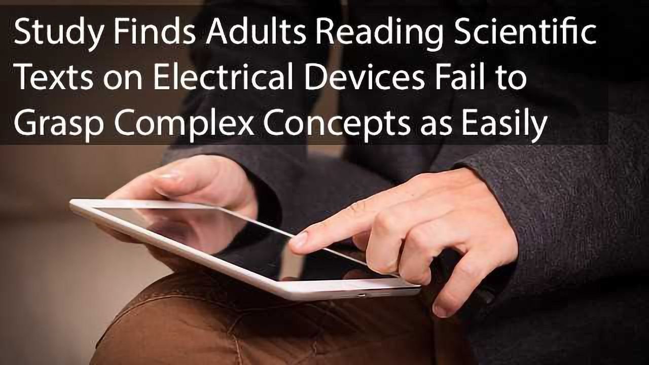 Reading on Electronic Devices Hinders Understanding of Scientific Concepts