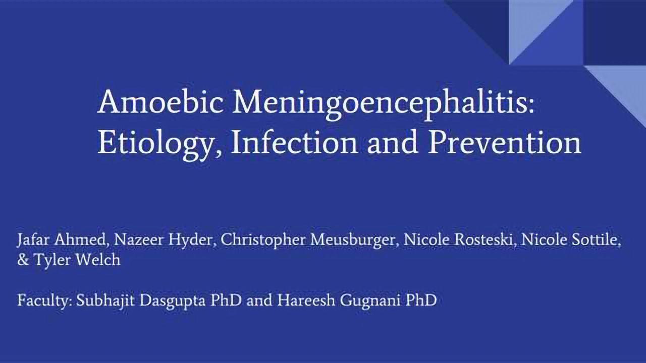 Amoebic Meningoencephalitis: Etiology, Infection and Prevention