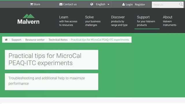 Practical Tips for MicroCal PEAQ-ITC Experiments