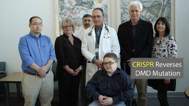 CRISPR-Cas9 Corrects Mutations in Muscular Dystrophy Patients' Cells