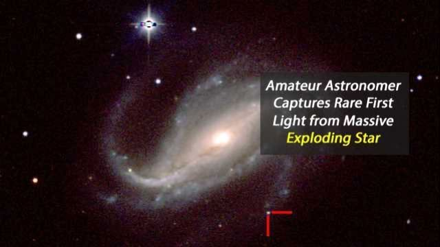 First Observation of Optical Light From Shock Breakout in a Supernova Explosion