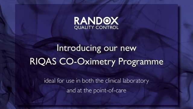Randox QC Launch RIQAS CO-Oximetry EQA / PT Programme