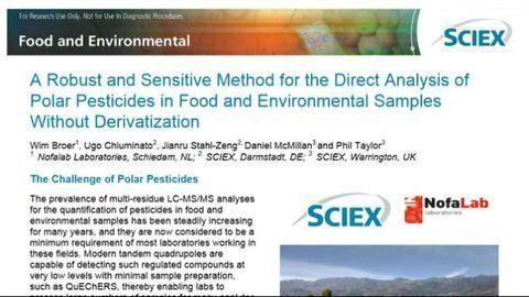 Direct Analysis of Polar Pesticides Without Derivatization