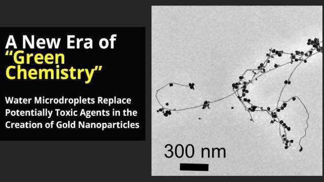 """Creating Gold Nanoparticles in Water, a New Era of """"Green Chemistry""""?"""