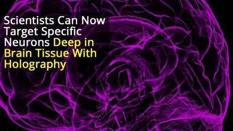 Using Holography to Activate the Brain