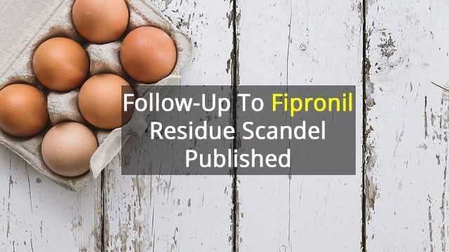 Fipronil Follow-Up Monitoring Published