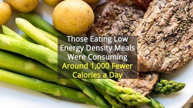 Low Energy Diet Leaves People Feeling Full And Eating Fewer Calories