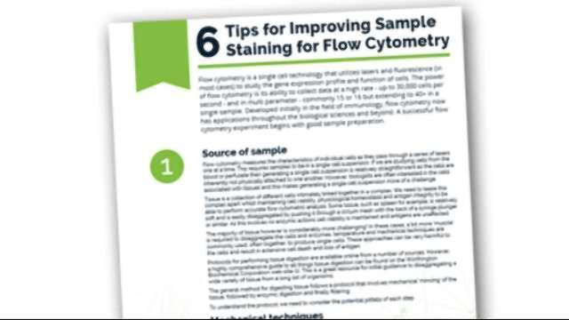 6 Tips for Improving Sample Staining for Flow Cytometry