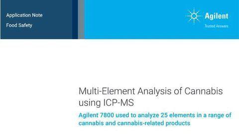 Multi-Element Analysis of Cannabis using ICP-MS
