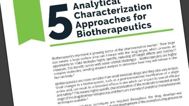 5 Analytical Characterization Approaches for Biotherapeutics