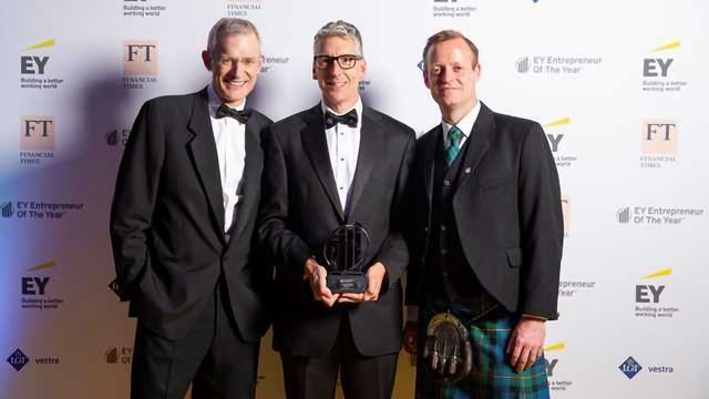 David Venables wins the Disruptor category of EY Entrepreneur Of The Year 2018, Scotland