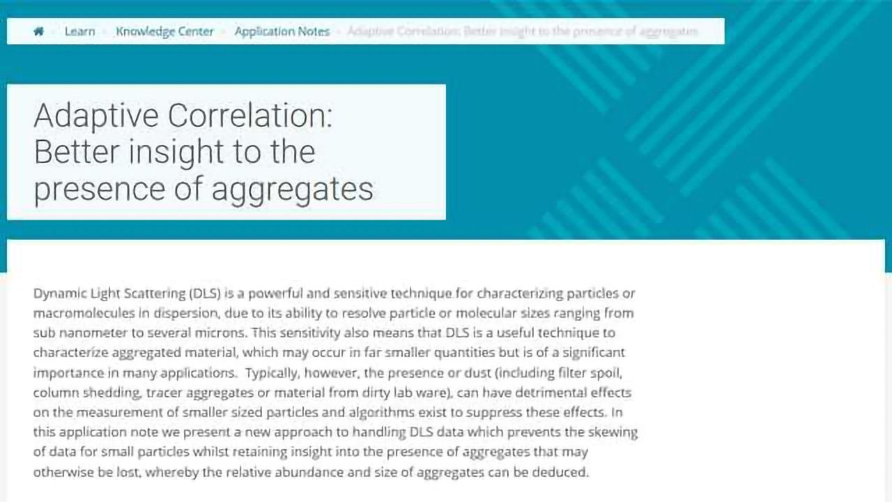 Adaptive Correlation: Better Insight to the Presence of Aggregates