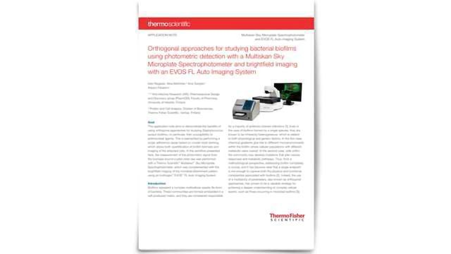 Using Orthogonal Approaches To Enhance Your Biofilm Research