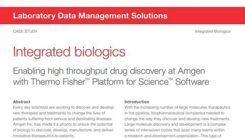 Integrated Biologics: Enabling high throughput drug discovery at Amgen