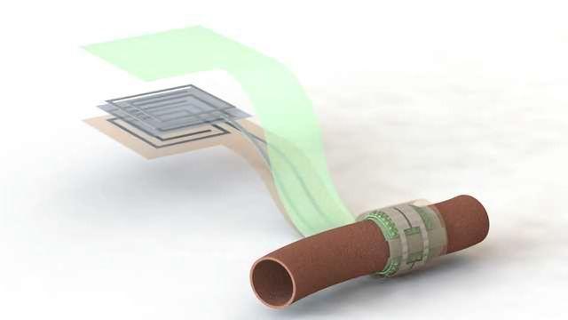 Wireless, Battery-free, Biodegradable Blood Flow Sensor
