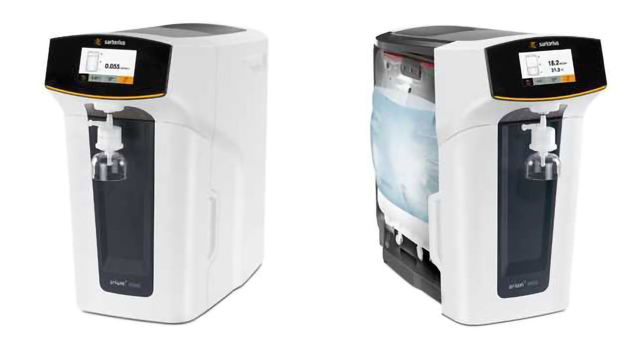 arium® mini – the Only Ultrapure Water System with Bagtank Technology