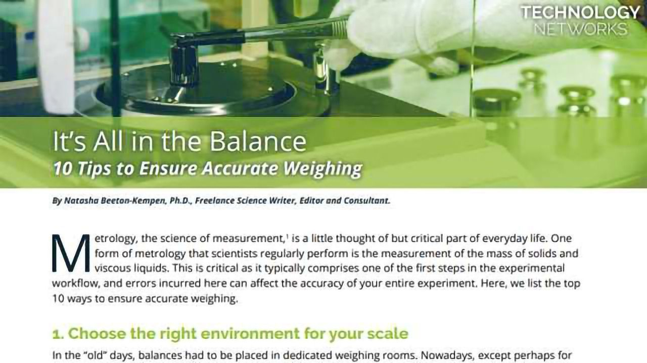 10 Tips to Ensure Accurate Weighing