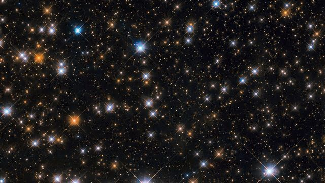 Cosmic Duck Flock Spotted by Hubble