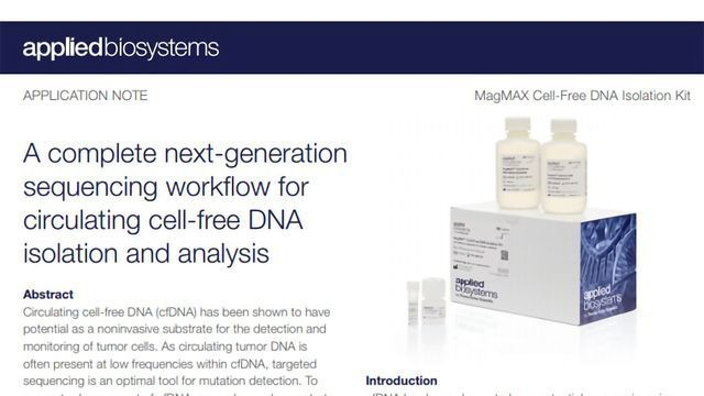 A Complete NGS Workflow for Circulating cfDNA Isolation and Analysis