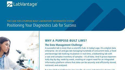 The Case for a Purpose-Built Diagnostics LIMS