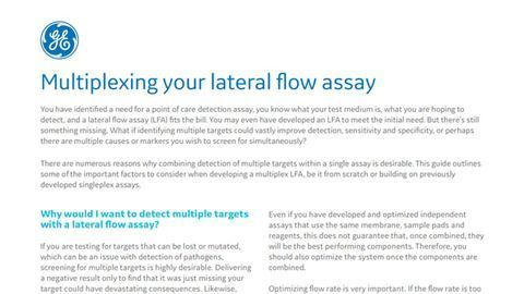 Multiplexing Your Lateral Flow Assay