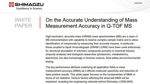 Enhancing Mass Measurement Accuracy in Q-TOF MS