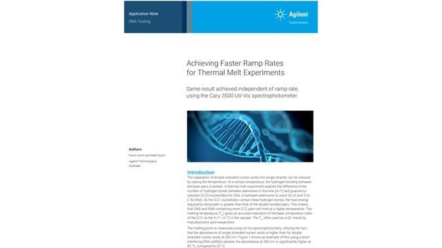 Acheiving Faster Ramp Rates for Thermal Experiments