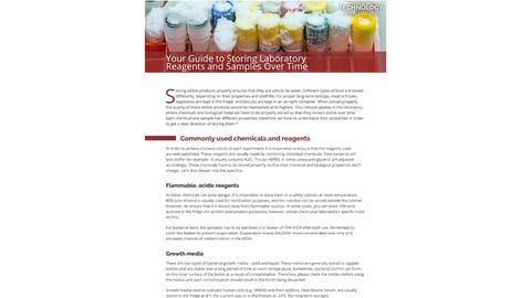 Your Guide to Storing Laboratory Reagents and Samples Over Time