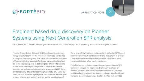 Fragment Based Drug Discovery on Pioneer Systems Using Next Generation SPR Analysis