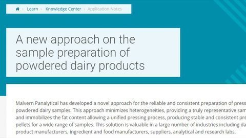 A New Approach on the Sample Preparation of Powdered Dairy Products