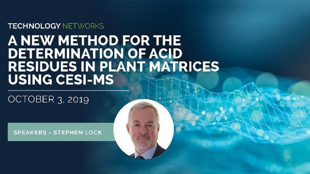 A New Method for the Determination of Acid Residues in Plant Matrices Using CESI-MS