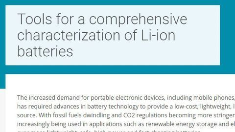 Tools for a Comprehensive Characterization of Li-Ion Batteries