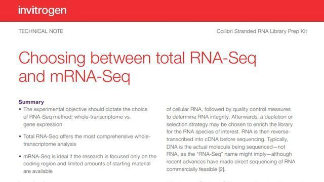 Choosing Between Total RNA-Seq and mRNA Seq
