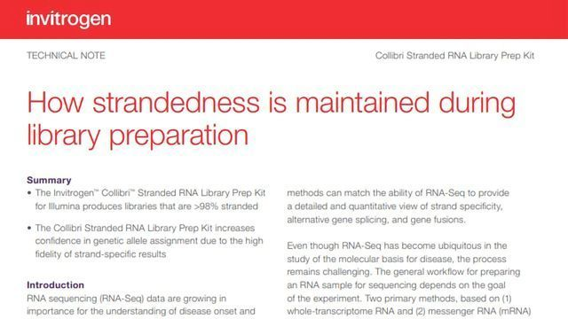 How Strandedness Is Maintained During Library Preparation