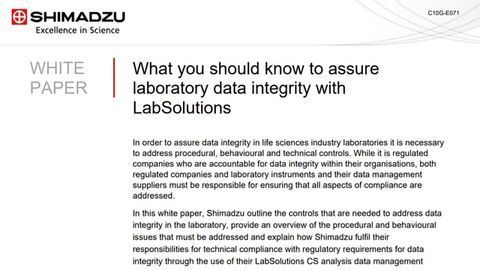 What You Should Know to Assure Laboratory Data Integrity with LabSolutions