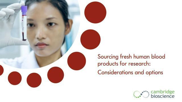 Sourcing Fresh Human Blood Products for Research