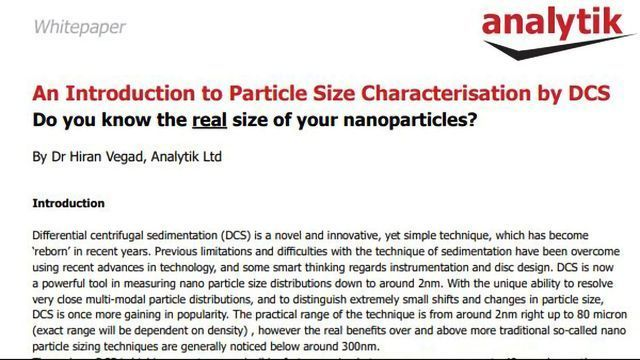 Ultra-high-resolution Particle Characterization