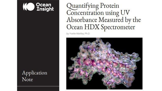 Quantifying Protein Concentration Using UV Absorbance Measured by the Ocean HDX Spectrometer