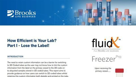 How Efficient is Your Lab? Part I - Lose the Label!