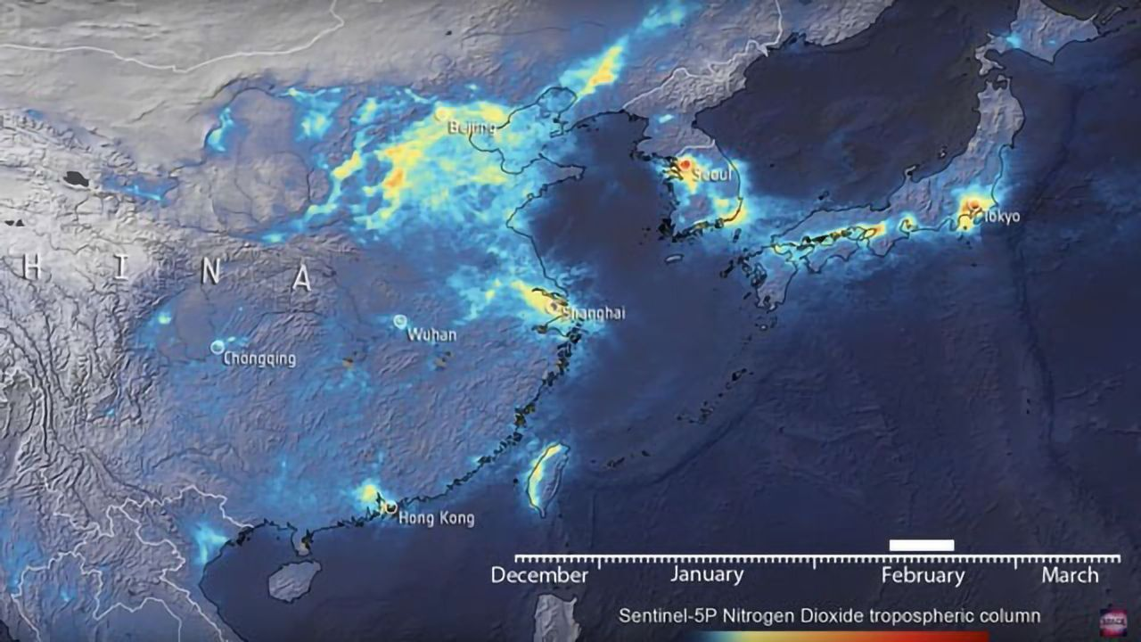 Air Pollution Over China Dropped in January, Rebounding in March - Satellite Data