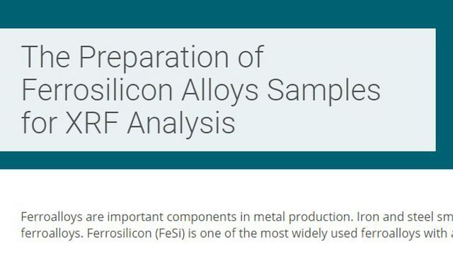 The Preparation of Ferrosilicon Alloy Samples for XRF Analysis